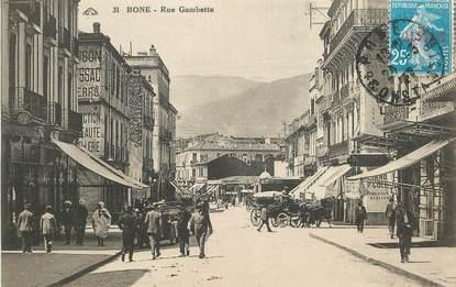 """CPA ALGERIE """"Bone, la rue Gambettaé"""