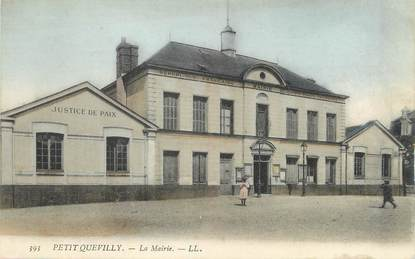 "/ CPA FRANCE 76 ""Petit Quevilly, la mairie"""