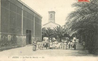 """CPA ALGERIE """"Arzeu, la place du Marché"""""""