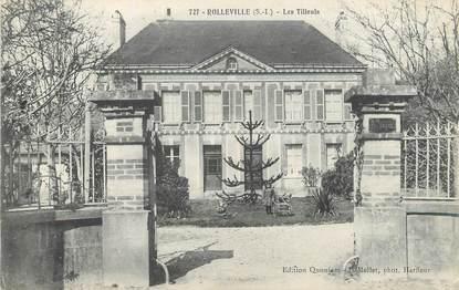 "/ CPA FRANCE 76 ""Rolleville, les tilleuls"""