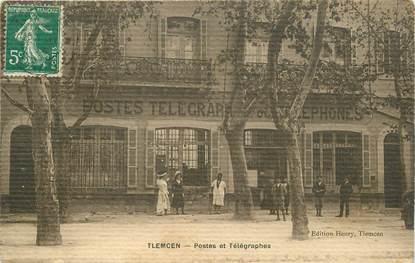 """CPA ALGERIE """"Tlemcen, postes et télégraphes"""""""