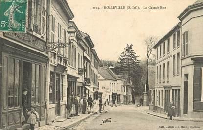 "/ CPA FRANCE 76 ""Rolleville, la grande rue"""