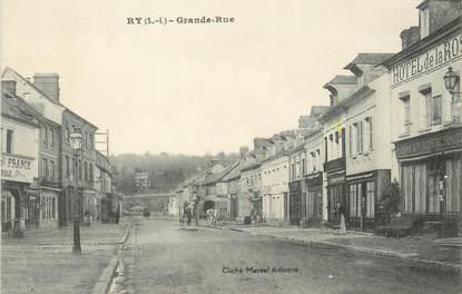 "/ CPA FRANCE 76 ""Ry, grande rue"""