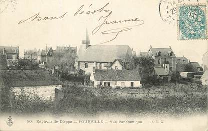 "/ CPA FRANCE 76 ""Pourville, vue panoramique"""