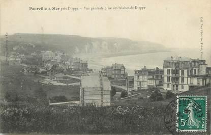 """/ CPA FRANCE 76 """"Pourville sur Mer, vue générale prise des falaises de Dieppe"""""""