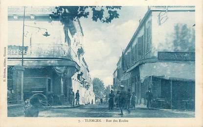 "CPA ALGERIE ""Tlemcen, rue des Ecoles"""