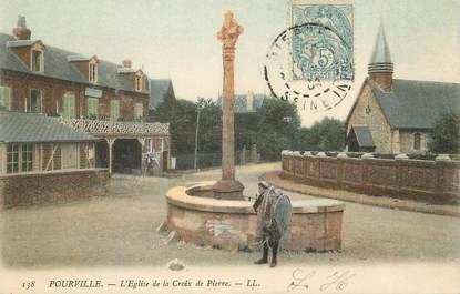 """/ CPA FRANCE 76 """"Pourville, l'église de la Croix de Pierre"""""""