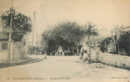 """CPA ALGERIE """"Castiglione, avenue de la mer"""""""