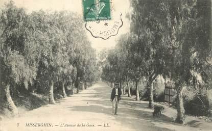 """CPA ALGERIE """"Miserghin, avenue de la gare"""""""