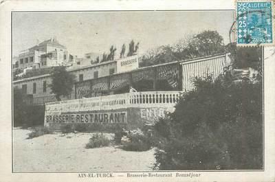 "CPA ALGERIE ""Ain El Turck, Brasserie Restaurant Beauséjour"""