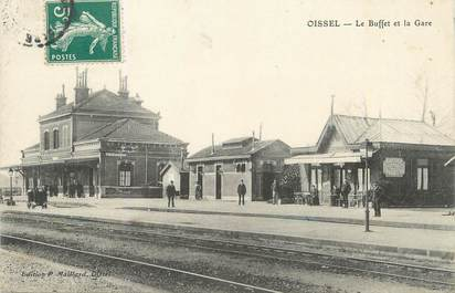 """/ CPA FRANCE 76 """"Oissel, le buffet et la gare """""""