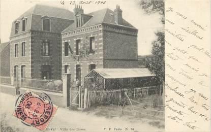 "/ CPA FRANCE 76 ""Mesnil Val, villa des Roses"""