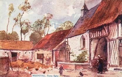 "/ CPA FRANCE 76 ""Mesnil Val, ferme église"""