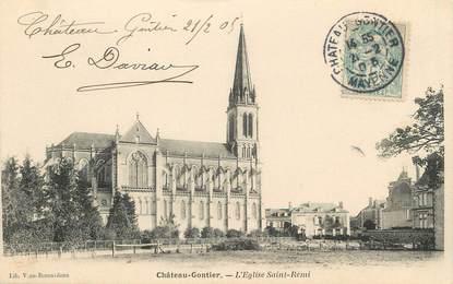 """/ CPA FRANCE 53 """"Château Gontier, l'église Saint Rémi"""""""