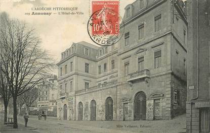 """/ CPA FRANCE 07 """"Annonay, l'hôtel de ville"""""""