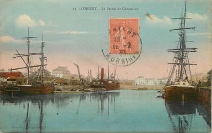 """/ CPA FRANCE 56 """"Lorient, le bassin de commerce"""""""