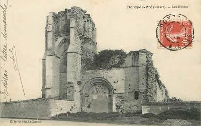 """/ CPA FRANCE 58 """"Donzy le Pré, les ruines"""""""