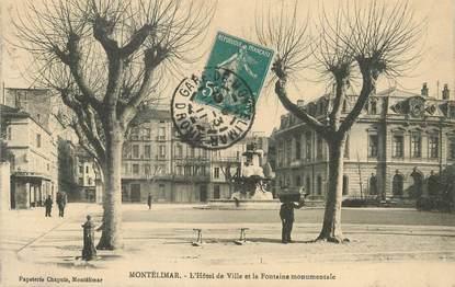 """/ CPA FRANCE 26 """"Montelimar, l'hôtel de ville et la fontaine monumentale"""""""