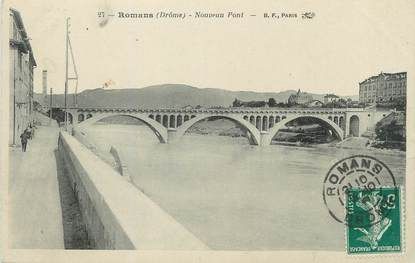 "/ CPA FRANCE 26 ""Romans, nouveau pont"""