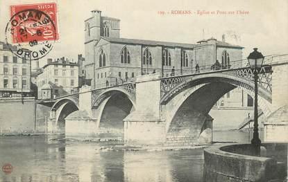 """/ CPA FRANCE 26 """"Romans, église et pont sur l'Isère"""""""