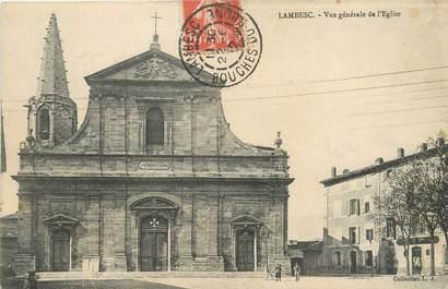 """/ CPA FRANCE 13 """"Lambesc, vue générale de l'église"""""""