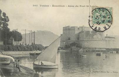 "/ CPA FRANCE 83 ""Toulon, Mourillon, anse du Fort Saint Louis"""
