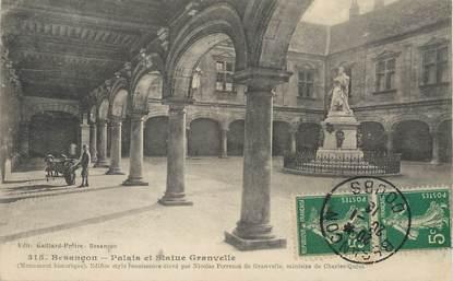 """/ CPA FRANCE 25 """"Besançon, palais et Statue Granvelle"""""""