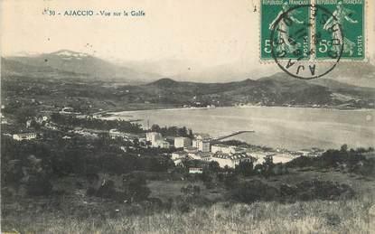 """/ CPA FRANCE 20 """"Corse, Ajaccio, vue sur le Golfe"""""""