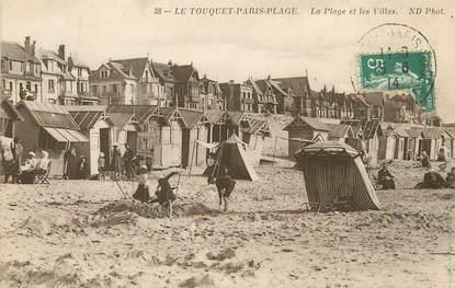 """/ CPA FRANCE 62 """"Le Touquet, Paris Plage, les plages et les villas"""""""