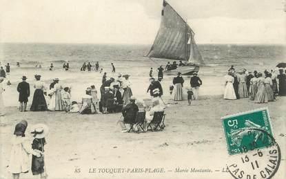 """/ CPA FRANCE 62 """"Le Touquet Paris Plage, marée montante"""""""