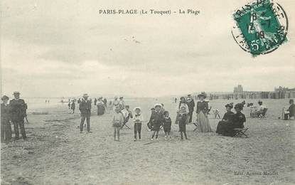 "/ CPA FRANCE 62 ""Le Touquet Paris Plage, la plage"""