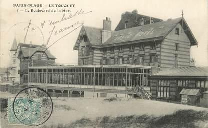 """/ CPA FRANCE 62 """"Le Touquet Paris Plage, le boulevard de la Mer"""""""