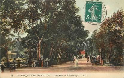"""/ CPA FRANCE 62 """"Le Touquet Paris Plage, carrefour de l'Hermitage"""""""