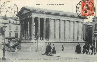 """/ CPA FRANCE 30 """"Nîmes, la maison carrée"""""""