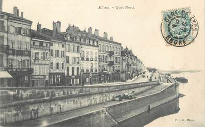 "/ CPA FRANCE 71 ""Macon, quai Nord'"