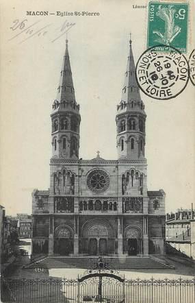 "/ CPA FRANCE 71 ""Macon, église Saint Pierre"""