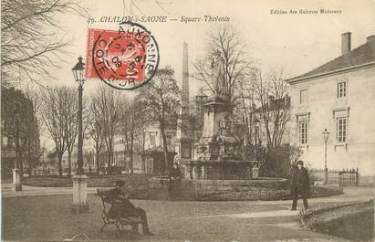 "/ CPA FRANCE 71 ""Chalon sur Saône, square Thevenin"""