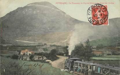 """/ CPA FRANCE 63 """"Le Tramway du Puy de Dôme à le Fond de l'Arbre"""""""