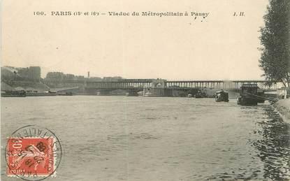 """/ CPA FRANCE 75016"""" Paris, viaduc du Métropolitain à Passy"""""""