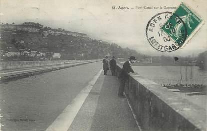 """/ CPA FRANCE 47 """"Agen, pont Canal sur la Garonne"""""""
