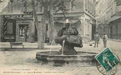"/ CPA FRANCE 13 ""Aix en Provence"" / FONTAINE"