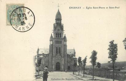 "/ CPA FRANCE 51 ""Epernay, église Saint Pierre et Saint Paul"""