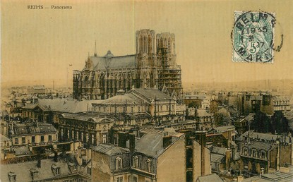 "/ CPA FRANCE 51 ""Reims, panorama"""