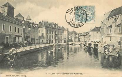 """/ CPA FRANCE 74 """"Annecy, entrée des Canaux"""""""