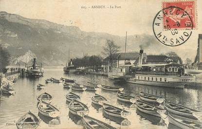"/ CPA FRANCE 74 ""Annecy, le port"" / BATEAU"