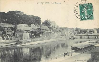 "/ CPA FRANCE 53 ""Mayenne, les remparts"""