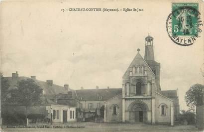 """/ CPA FRANCE 53 """"Château Gontier, église Saint Jean"""""""
