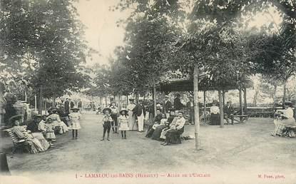"""CPA FRANCE 34 """"Lamalou les Bains, allée de l'Usclade"""""""