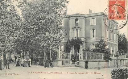 """CPA FRANCE 34 """"Lamalou les Bains, avenue du Capus"""""""