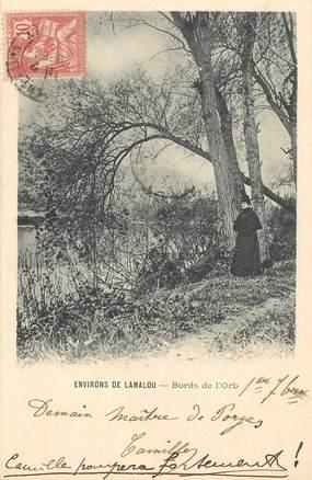 """CPA FRANCE 34 """"Lamalou les Bains, bords de l'Orb"""""""